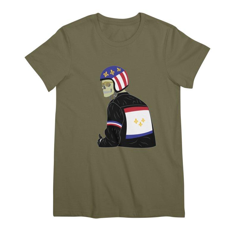 Big Easy Rider Women's Premium T-Shirt by NOLA 'Nacular's Shop