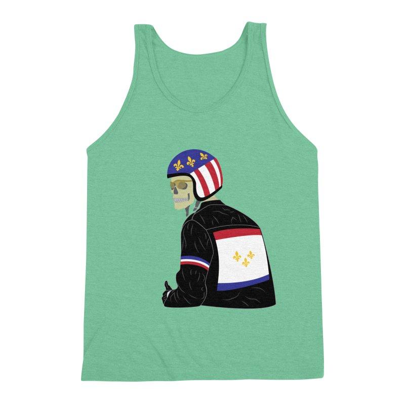 Big Easy Rider Men's Triblend Tank by NOLA 'Nacular's Shop