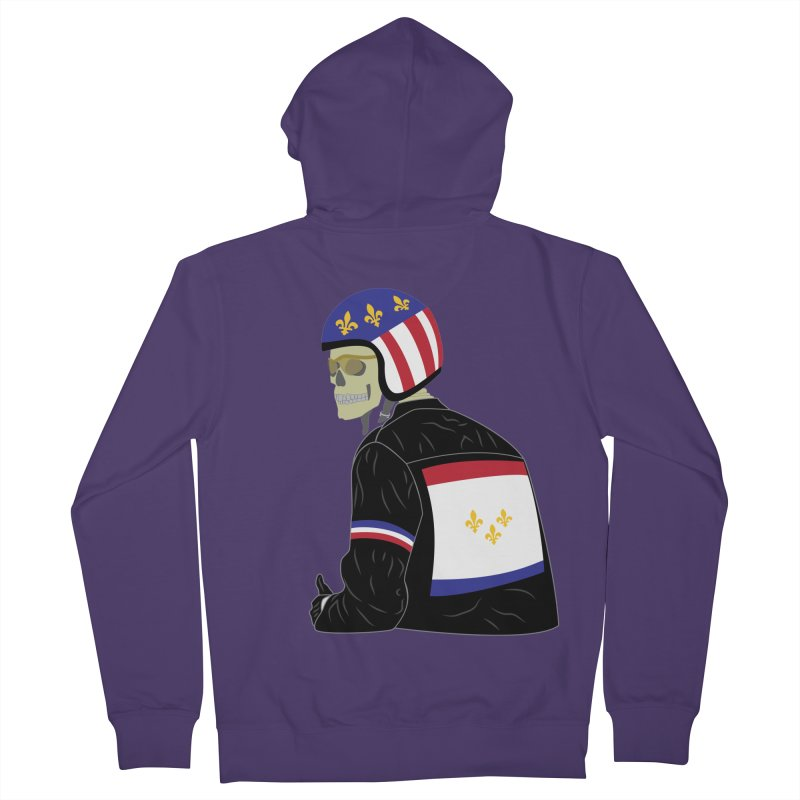 Big Easy Rider Women's French Terry Zip-Up Hoody by NOLA 'Nacular's Shop