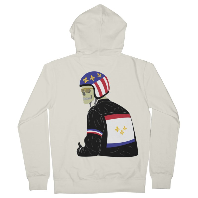 Big Easy Rider Men's French Terry Zip-Up Hoody by NOLA 'Nacular's Shop