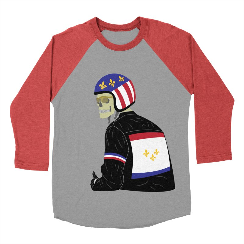 Big Easy Rider Men's Baseball Triblend Longsleeve T-Shirt by NOLA 'Nacular's Shop