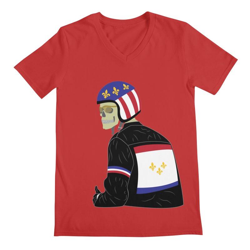 Big Easy Rider Men's Regular V-Neck by NOLA 'Nacular's Shop