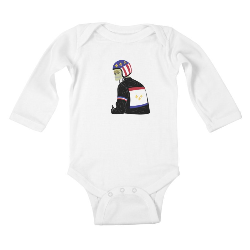 Big Easy Rider Kids Baby Longsleeve Bodysuit by NOLA 'Nacular's Shop
