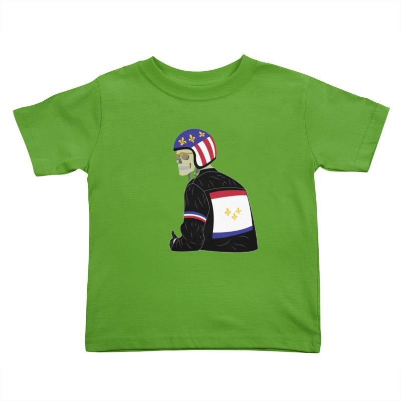 Big Easy Rider Kids Toddler T-Shirt by NOLA 'Nacular's Shop