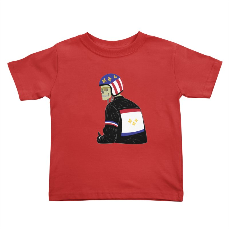 Big Easy Rider Kids Toddler T-Shirt by NOLA 'Nacular's Shop