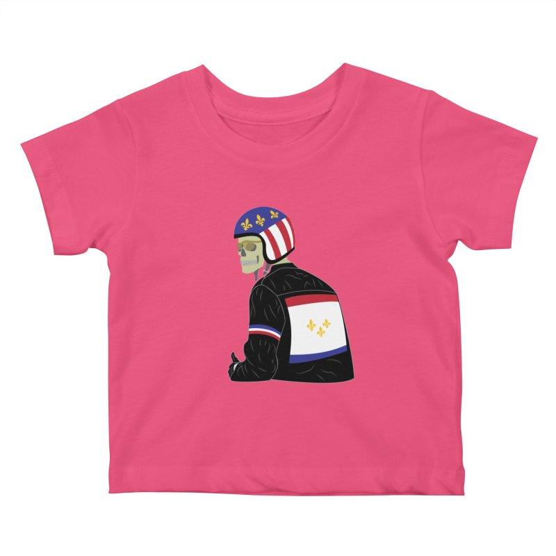 Big Easy Rider Kids Baby T-Shirt by NOLA 'Nacular's Shop