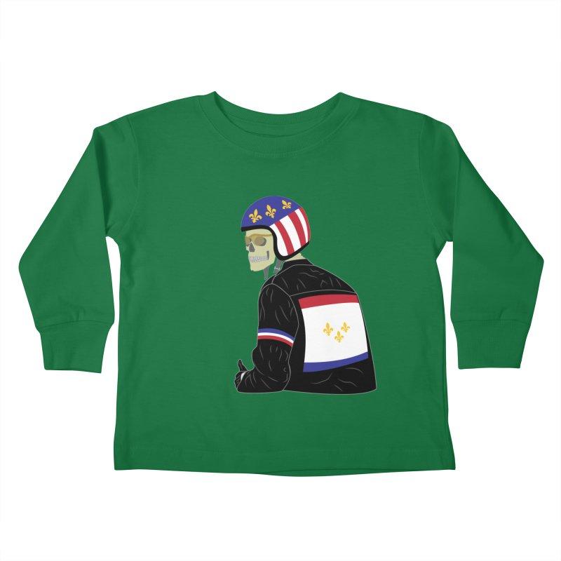 Big Easy Rider Kids Toddler Longsleeve T-Shirt by NOLA 'Nacular's Shop