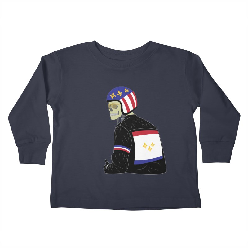 Big Easy Rider Kids Toddler Longsleeve T-Shirt by NOLA 'Nacular's Shop