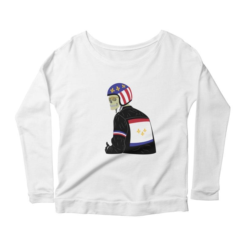 Big Easy Rider Women's Scoop Neck Longsleeve T-Shirt by NOLA 'Nacular's Shop