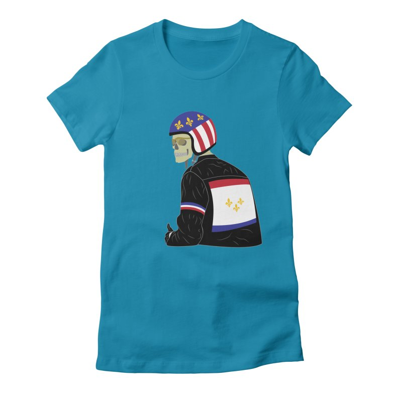 Big Easy Rider Women's Fitted T-Shirt by NOLA 'Nacular's Shop