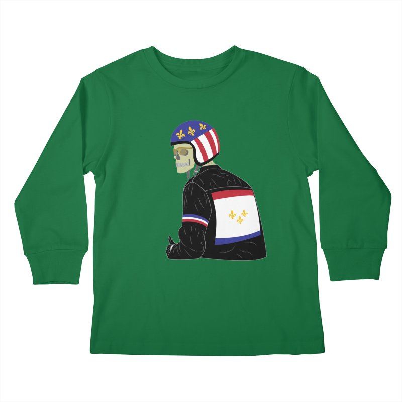 Big Easy Rider Kids Longsleeve T-Shirt by NOLA 'Nacular's Shop