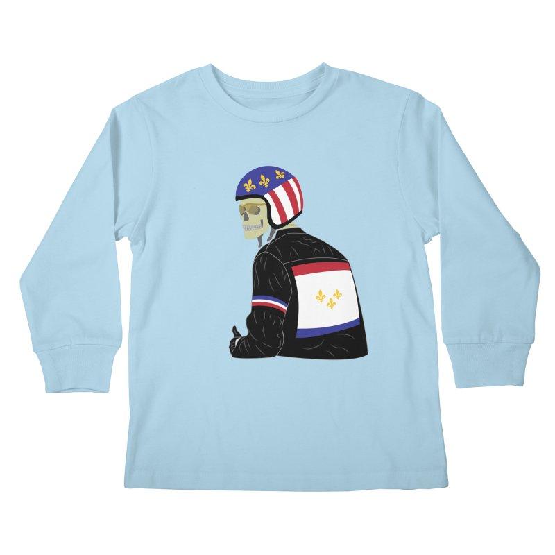 Big Easy Rider Kids Longsleeve T-Shirt by NOLA 'Nacular's Shop