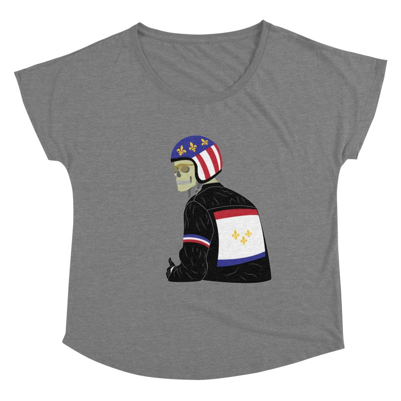 Big Easy Rider Fitted Scoop Neck by NOLA 'Nacular's Shop