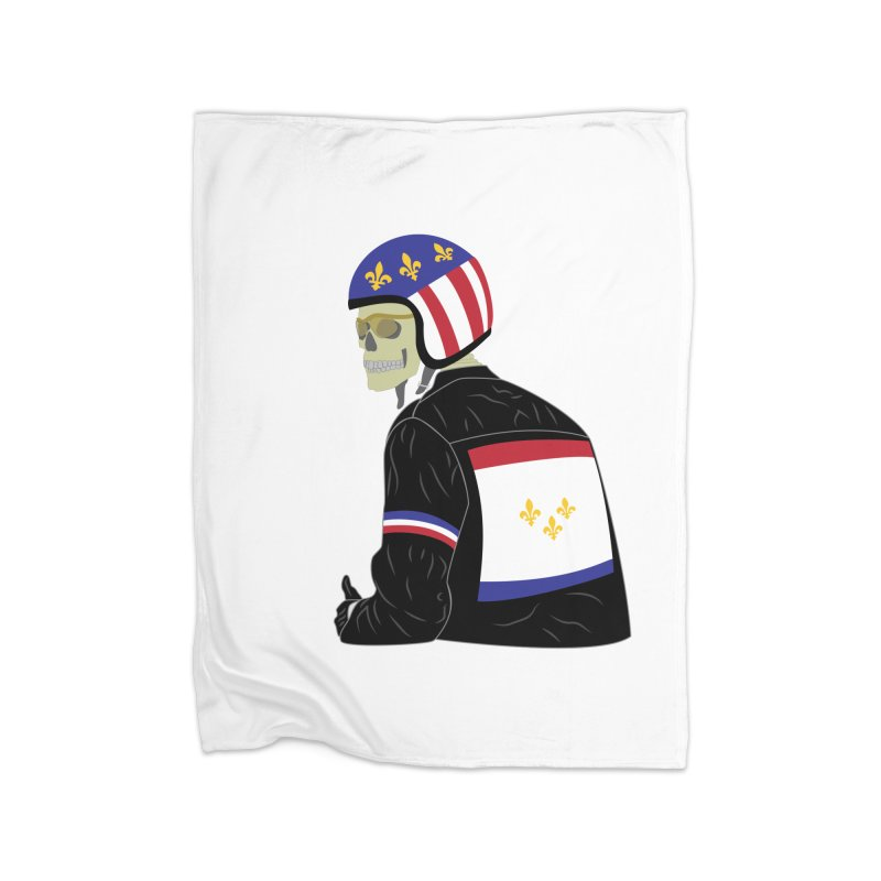 Big Easy Rider Home Fleece Blanket Blanket by NOLA 'Nacular's Shop