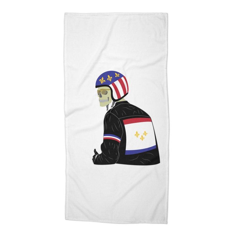 Big Easy Rider Accessories Beach Towel by NOLA 'Nacular's Shop