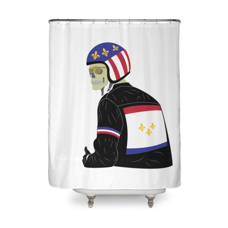 Big Easy Rider Home Shower Curtain by NOLA 'Nacular's Shop