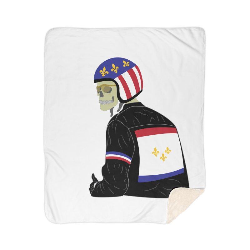 Big Easy Rider Home Sherpa Blanket Blanket by NOLA 'Nacular's Shop