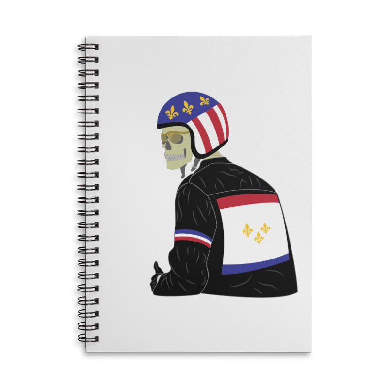 Big Easy Rider Accessories Lined Spiral Notebook by NOLA 'Nacular's Shop