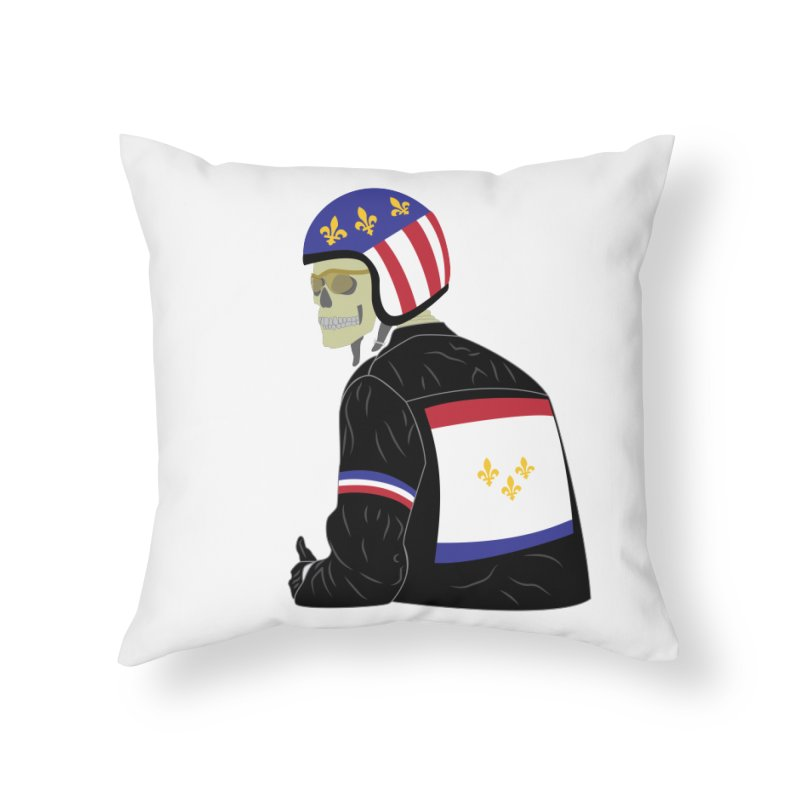Big Easy Rider Home Throw Pillow by NOLA 'Nacular's Shop