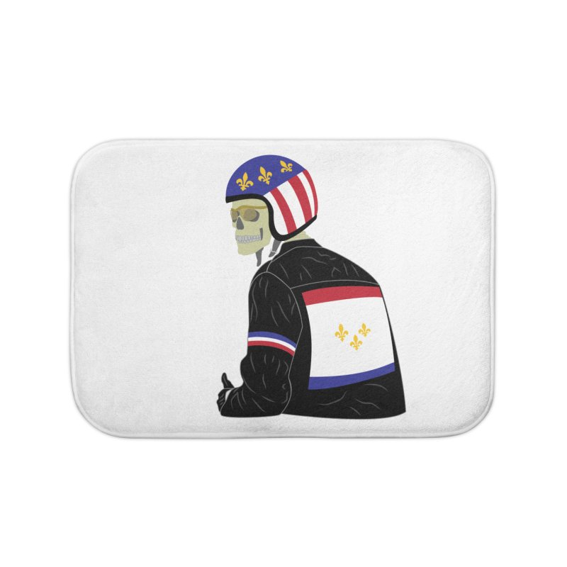 Big Easy Rider Prints + Decor Bath Mat by NOLA 'Nacular's Shop