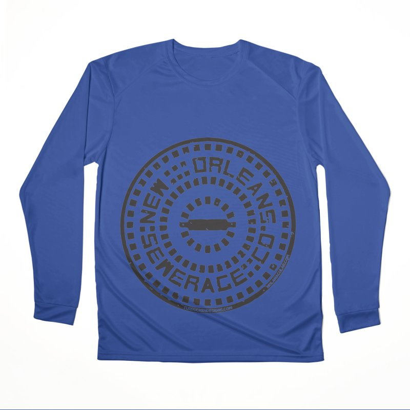 New Orleans Sewerage Co. Men's Performance Longsleeve T-Shirt by NOLA 'Nacular's Shop