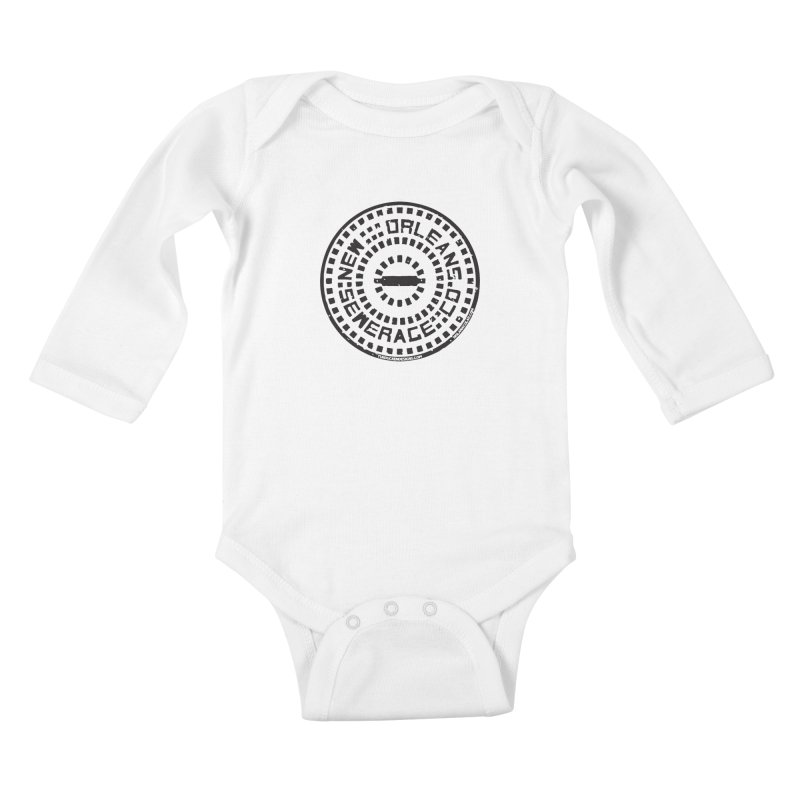 New Orleans Sewerage Co. Kids Baby Longsleeve Bodysuit by NOLA 'Nacular's Shop