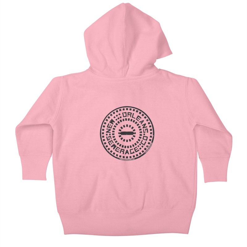 New Orleans Sewerage Co. Kids Baby Zip-Up Hoody by NOLA 'Nacular's Shop