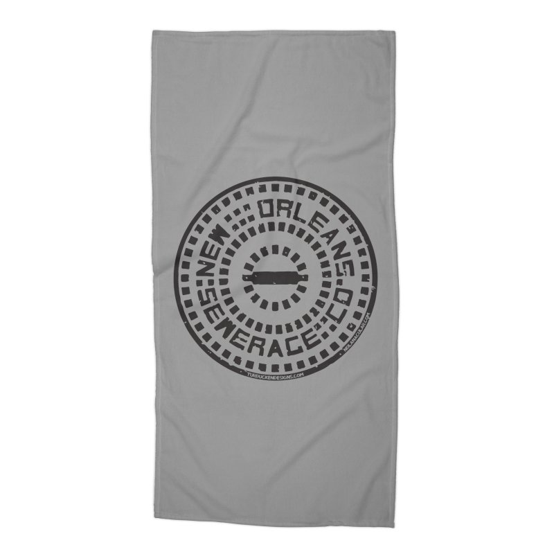 New Orleans Sewerage Co. Accessories Beach Towel by NOLA 'Nacular's Shop