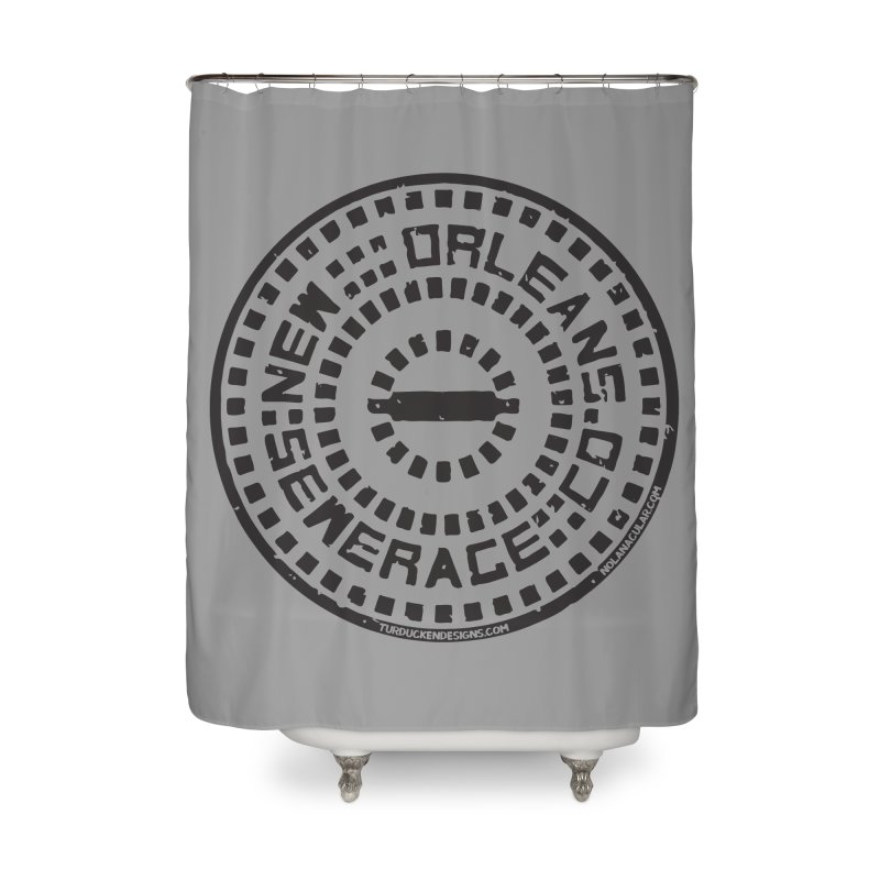 New Orleans Sewerage Co. Home Shower Curtain by NOLA 'Nacular's Shop