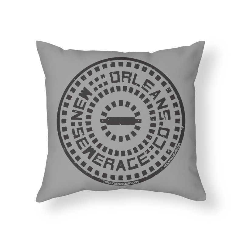 New Orleans Sewerage Co. Home Throw Pillow by NOLA 'Nacular's Shop