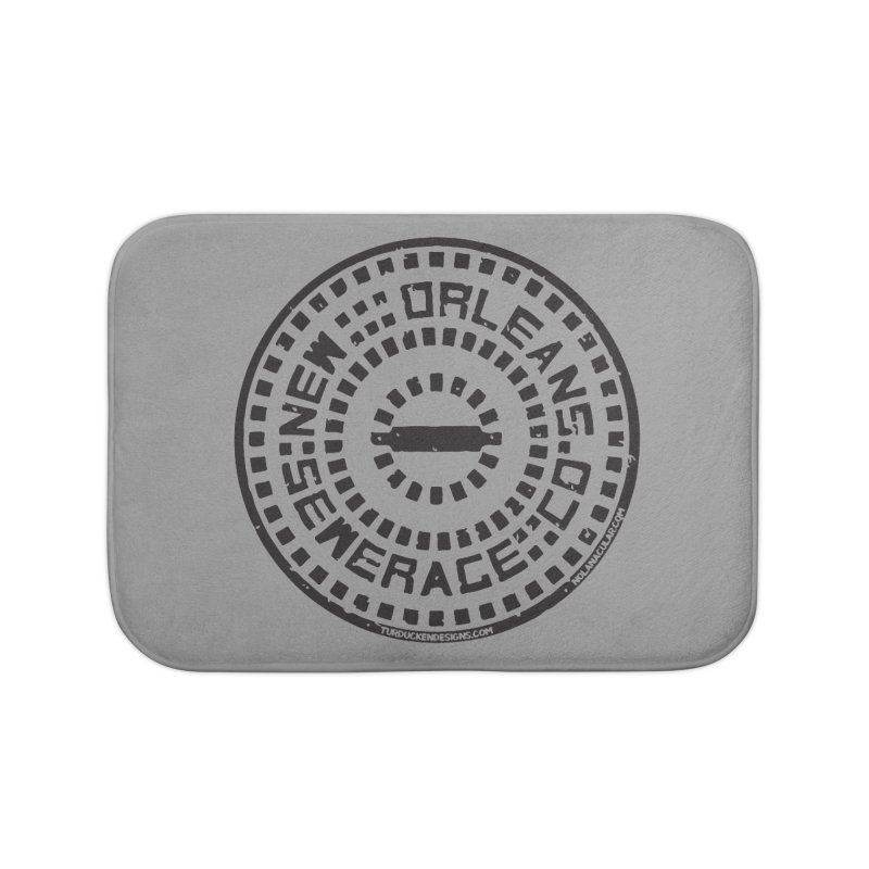 New Orleans Sewerage Co. Home Bath Mat by NOLA 'Nacular's Shop