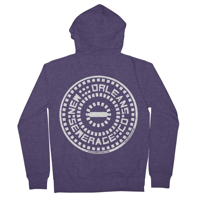 New Orleans Sewerage Co. Men's French Terry Zip-Up Hoody by NOLA 'Nacular's Shop