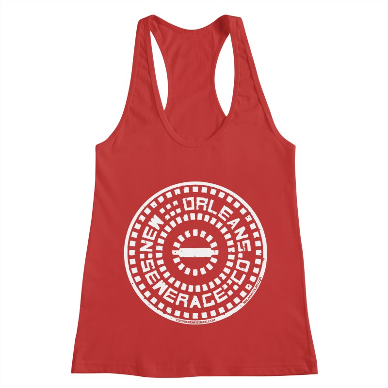 New Orleans Sewerage Co. Women's Racerback Tank by NOLA 'Nacular's Shop