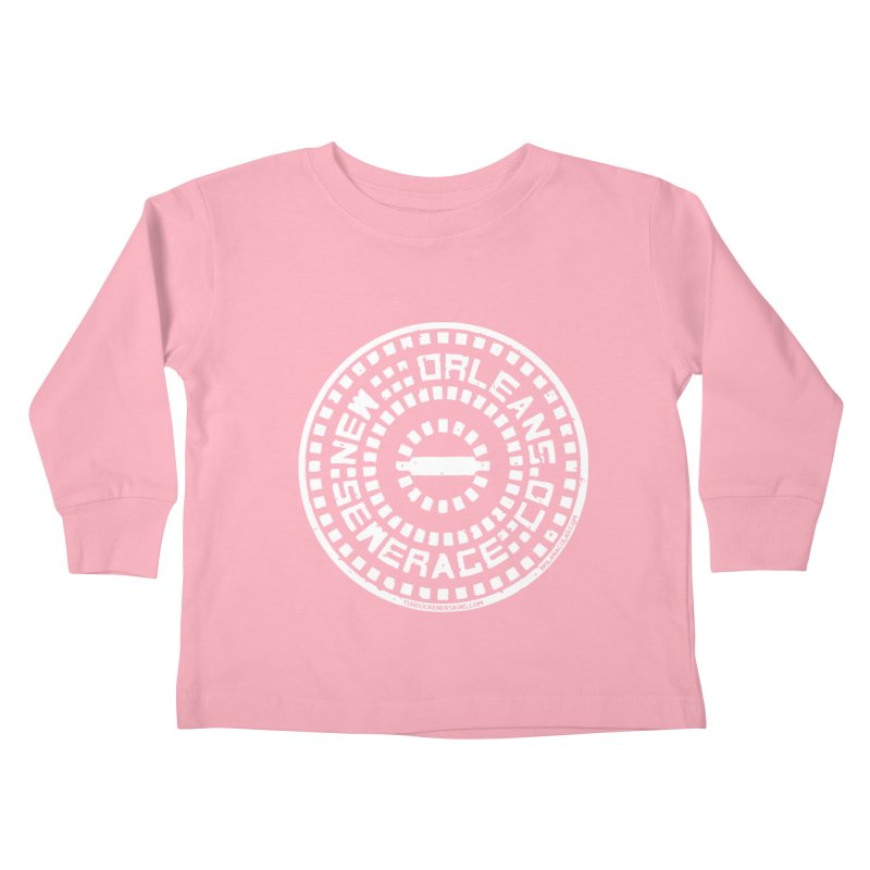 New Orleans Sewerage Co. Kids Toddler Longsleeve T-Shirt by NOLA 'Nacular's Shop
