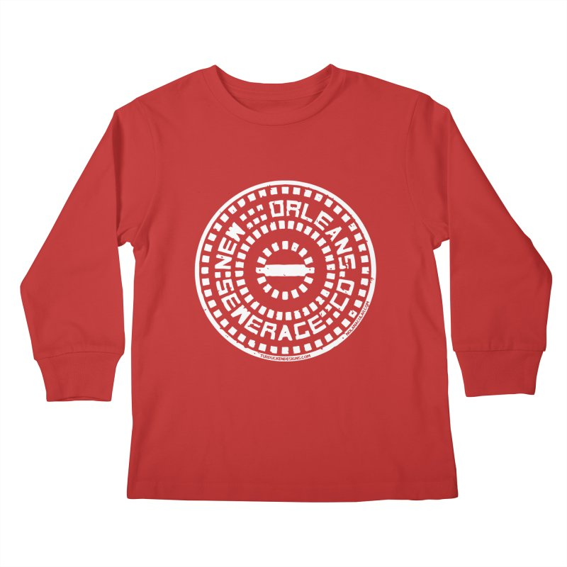 New Orleans Sewerage Co. Kids Longsleeve T-Shirt by NOLA 'Nacular's Shop