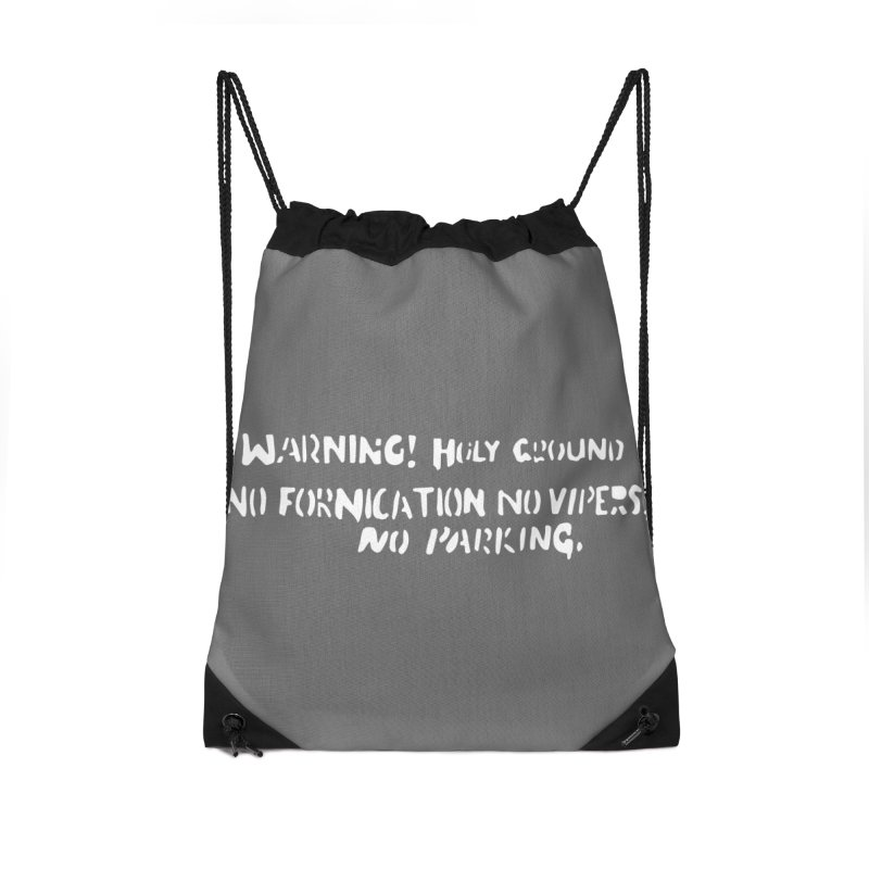 WARNING! HOLY GROUND (white print) Accessories Bag by NOLA 'Nacular's Shop