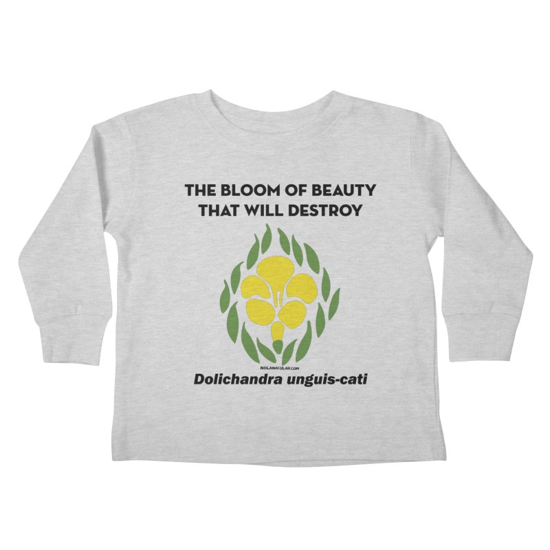 New Orleans Cat's Claw Bloom Kids Toddler Longsleeve T-Shirt by NOLA 'Nacular's Shop