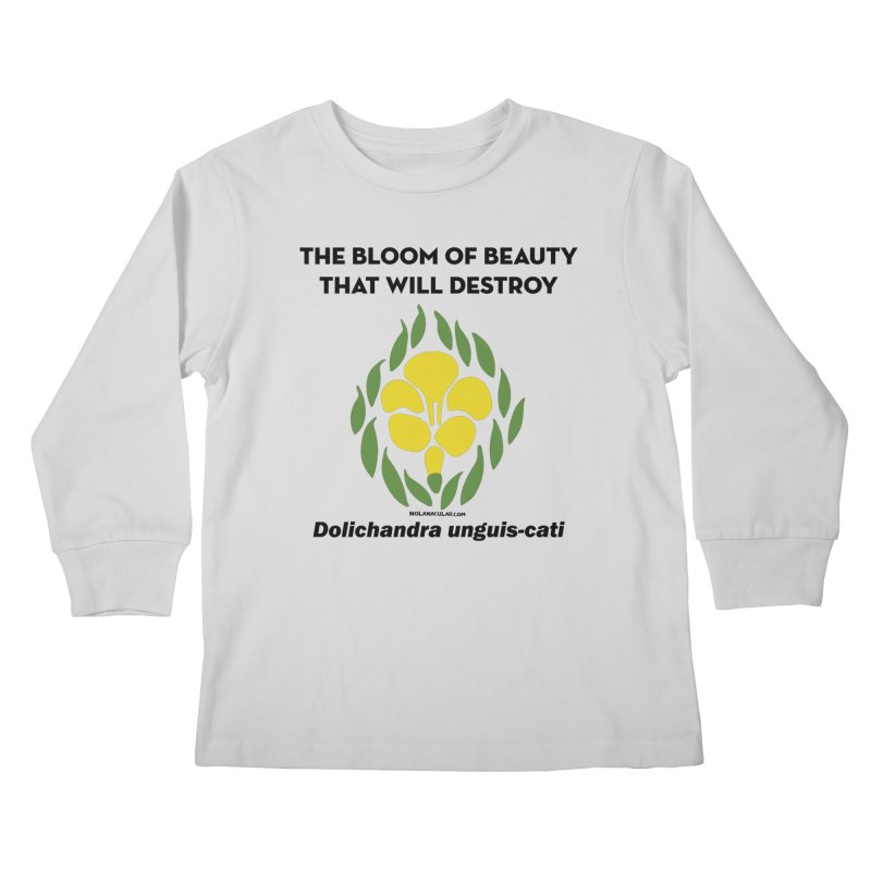 New Orleans Cat's Claw Bloom Kids Longsleeve T-Shirt by NOLA 'Nacular's Shop