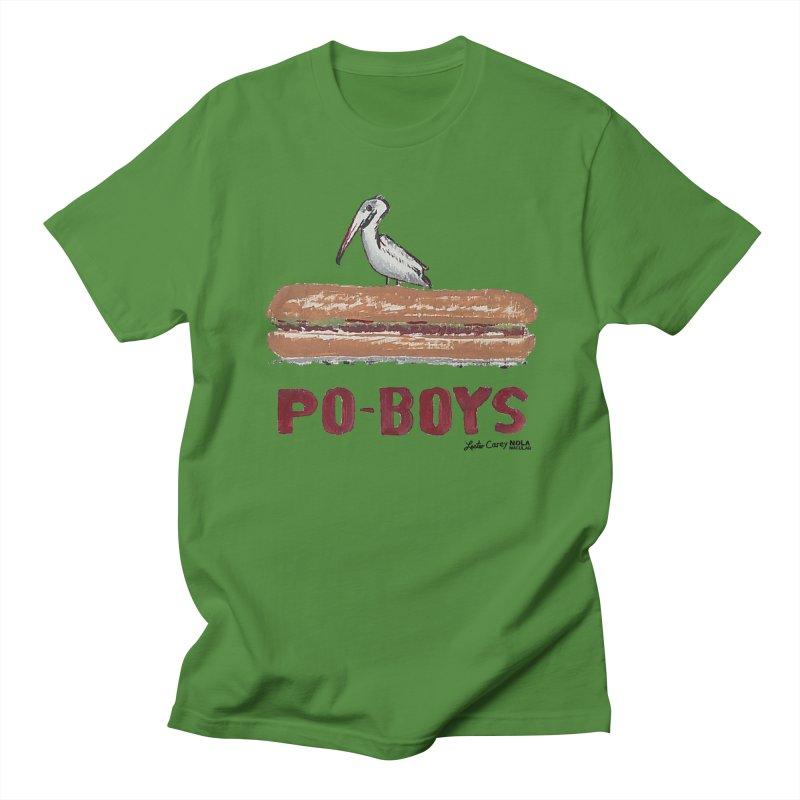 NOLA 'Nacular Poboys Pelican on a Poboy sign Lester Carey  Men's T-Shirt by NOLA 'Nacular's Shop