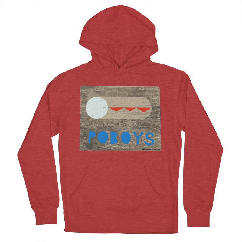 NOLA 'Nacular New Orleans Poboys Stencil Design Women's French Terry Pullover Hoody by NOLA 'Nacular's Shop