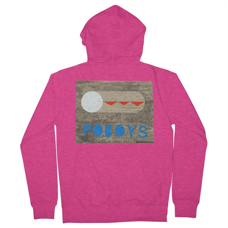 NOLA 'Nacular New Orleans Poboys Stencil Design Women's French Terry Zip-Up Hoody by NOLA 'Nacular's Shop