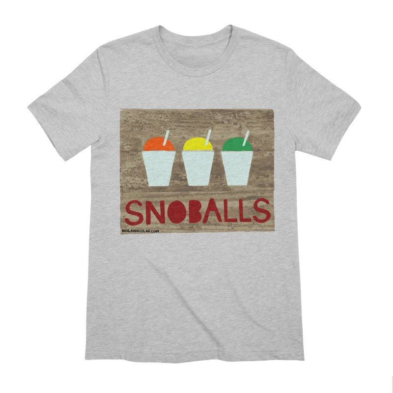 NOLA 'Nacular New Orleans Snoballs Stencil Design Men's Extra Soft T-Shirt by NOLA 'Nacular's Shop