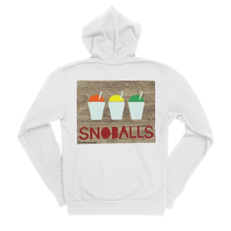 NOLA 'Nacular New Orleans Snoballs Stencil Design Men's Sponge Fleece Zip-Up Hoody by NOLA 'Nacular's Shop