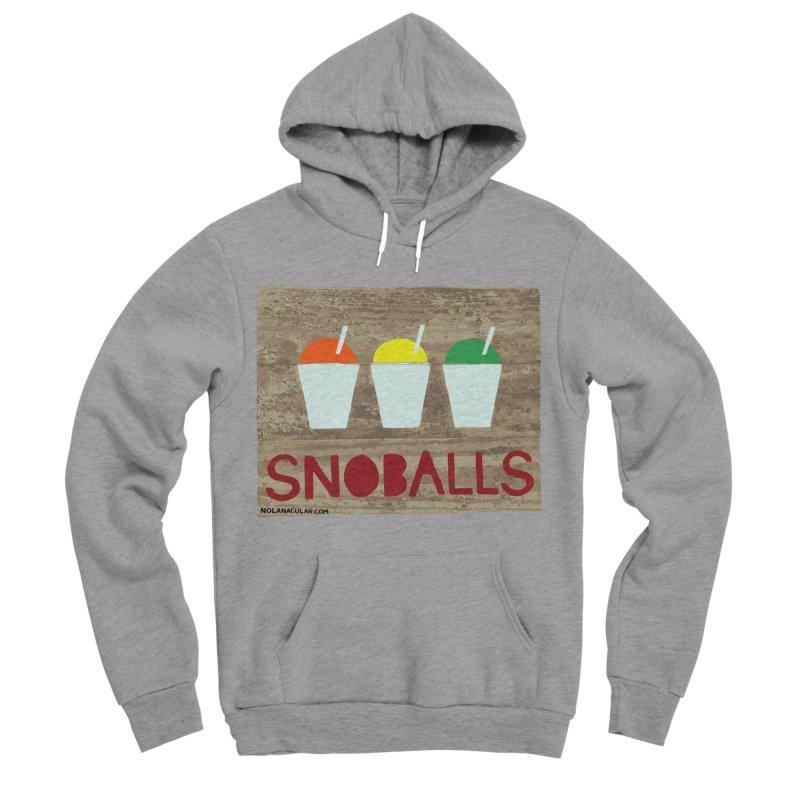 NOLA 'Nacular New Orleans Snoballs Stencil Design Men's Sponge Fleece Pullover Hoody by NOLA 'Nacular's Shop