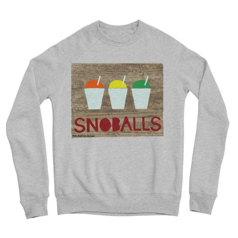 NOLA 'Nacular New Orleans Snoballs Stencil Design Women's Sponge Fleece Sweatshirt by NOLA 'Nacular's Shop