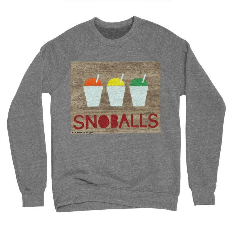NOLA 'Nacular New Orleans Snoballs Stencil Design Men's Sponge Fleece Sweatshirt by NOLA 'Nacular's Shop