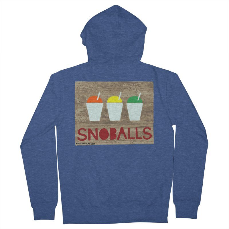 NOLA 'Nacular New Orleans Snoballs Stencil Design Women's French Terry Zip-Up Hoody by NOLA 'Nacular's Shop