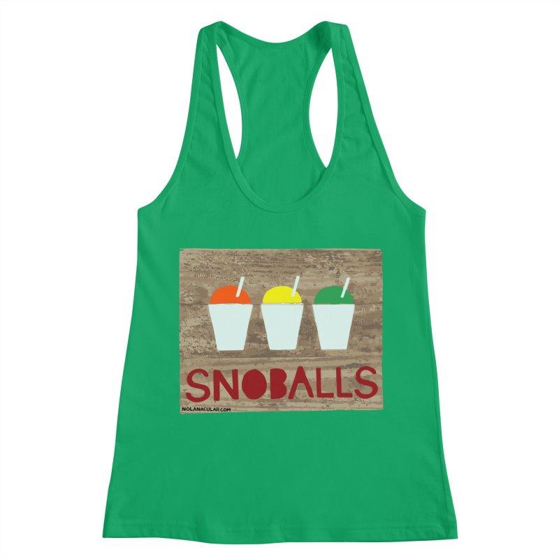 NOLA 'Nacular New Orleans Snoballs Stencil Design Women's Racerback Tank by NOLA 'Nacular's Shop