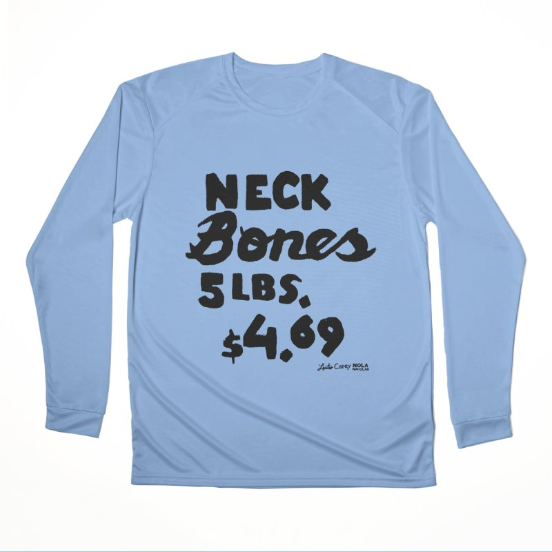 NOLA 'Nacular Neck Bones hand-painted sign by Lester Carey Fitted Longsleeve T-Shirt by NOLA 'Nacular's Shop