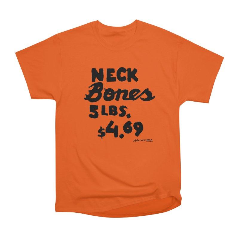 NOLA 'Nacular Neck Bones hand-painted sign by Lester Carey Men's Heavyweight T-Shirt by NOLA 'Nacular's Shop